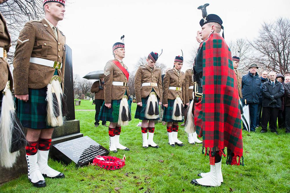 The ceremony in Edinburgh today