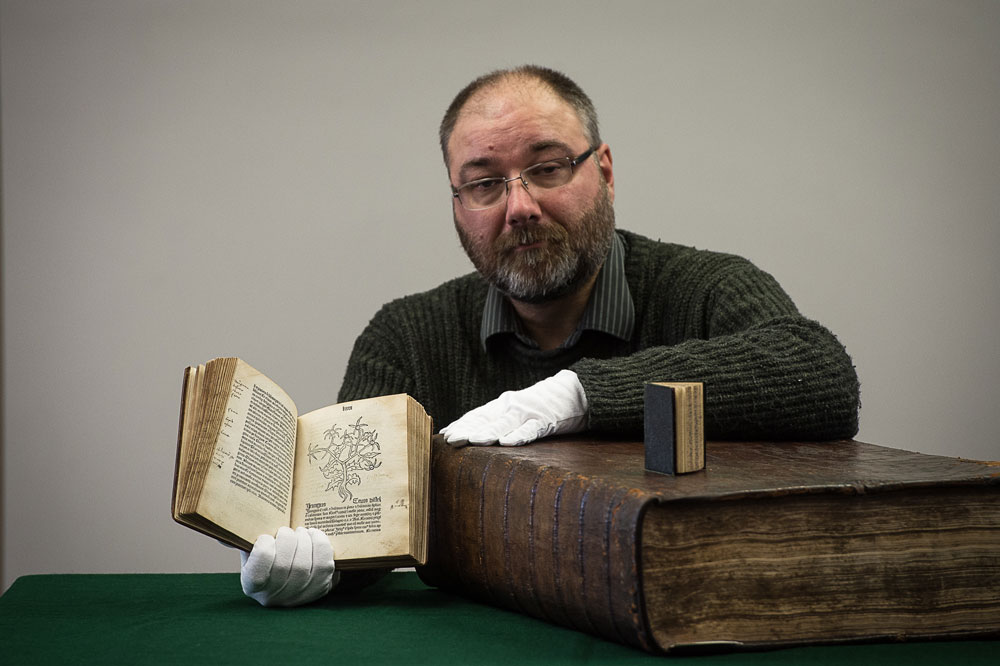The biggest, smallest and oldest books in the collection