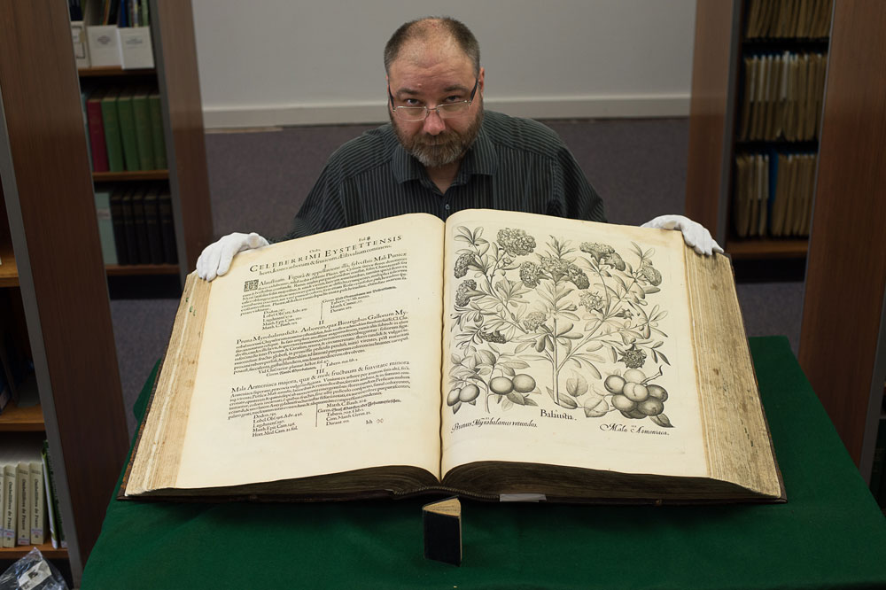 The largest book weighs 8 stone