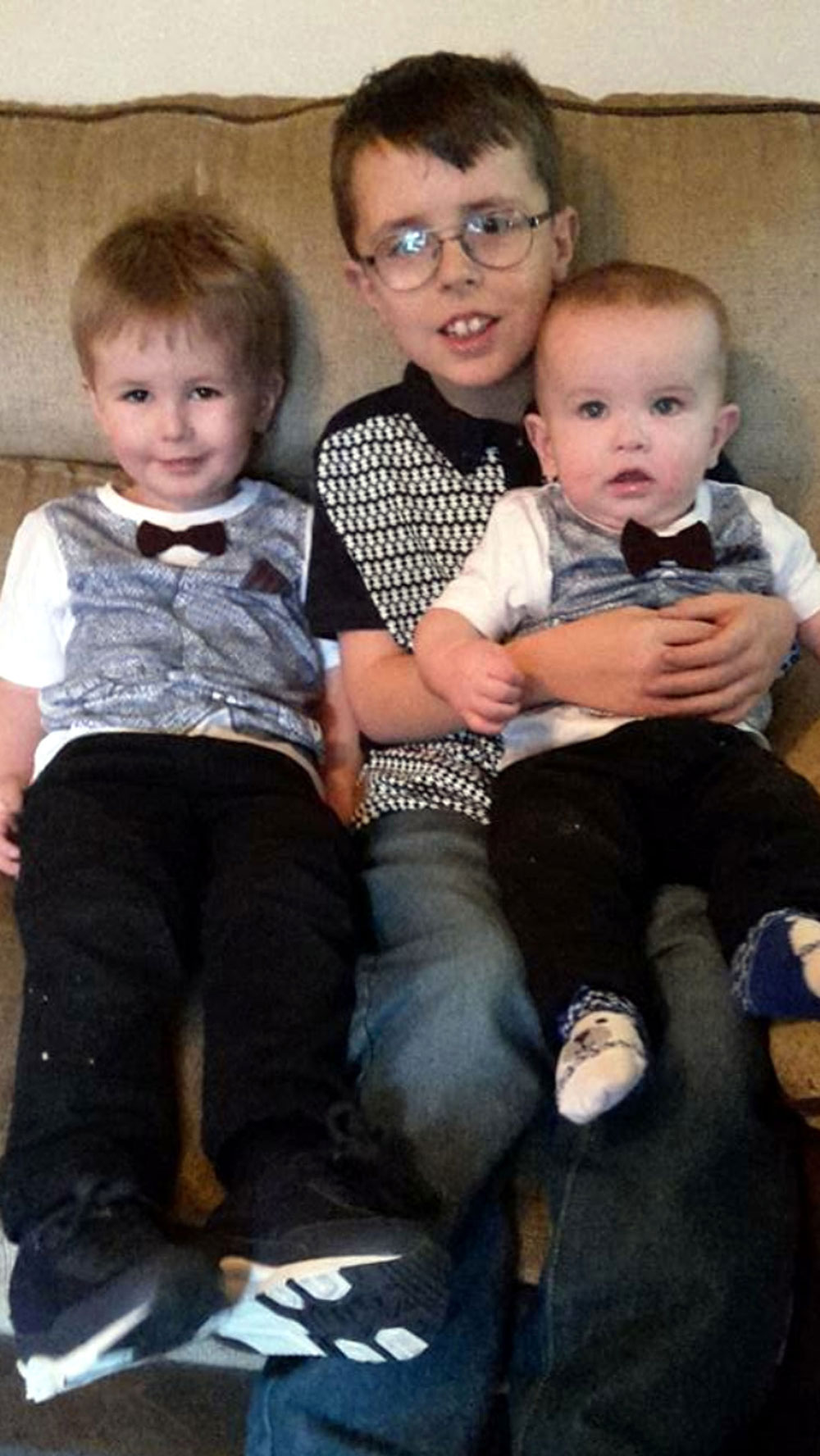 Paddy's three children, two of whom were in the car during the incident