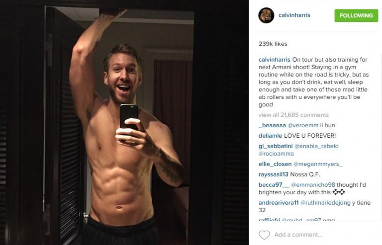 Calvin Harris apologises for DJs shirtless selfies