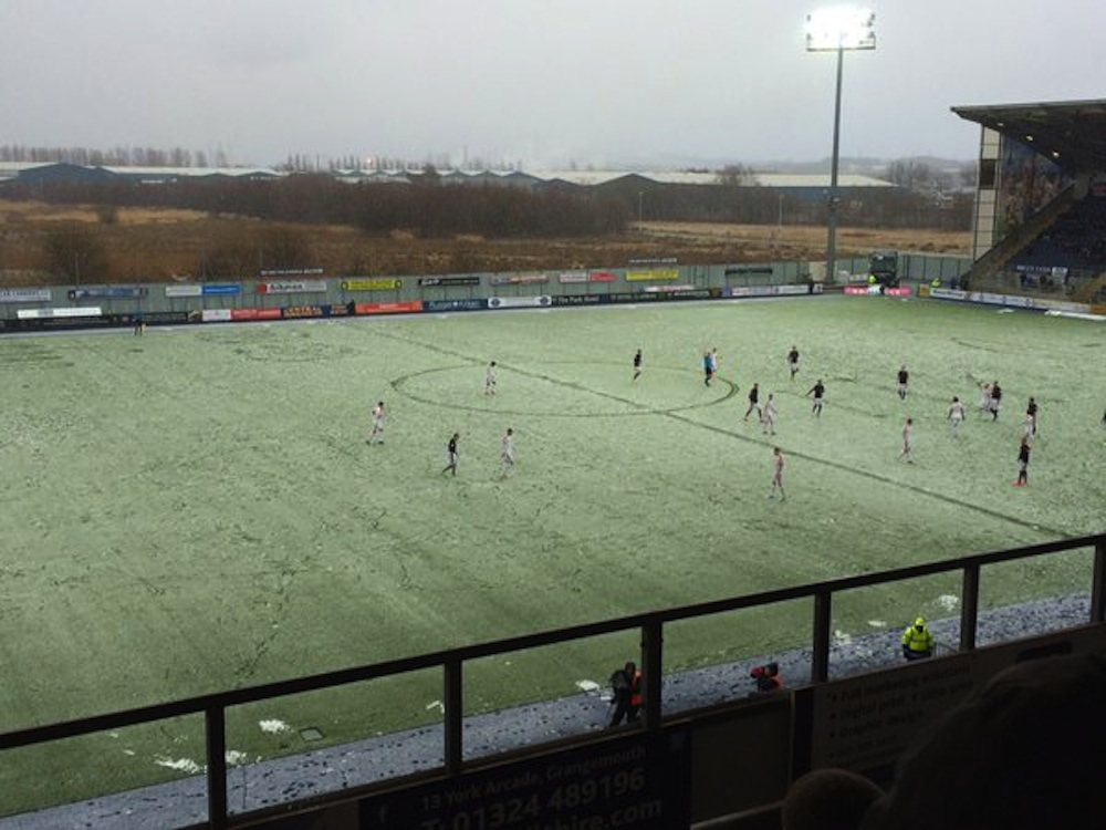 Falkirk Stadium snow