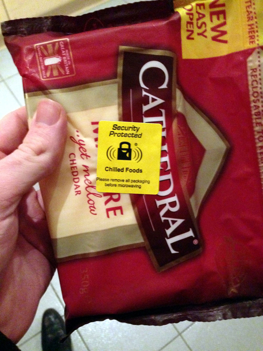 Chris was picking up spag bol ingredients when he noticed the sticker
