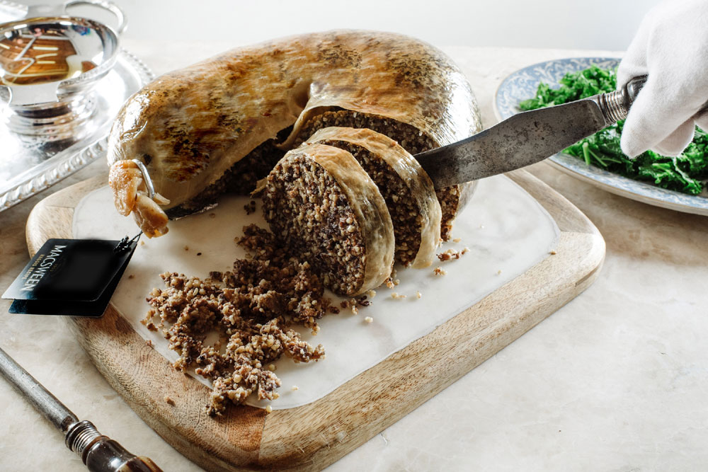 The unsold haggis now sits in the freezer