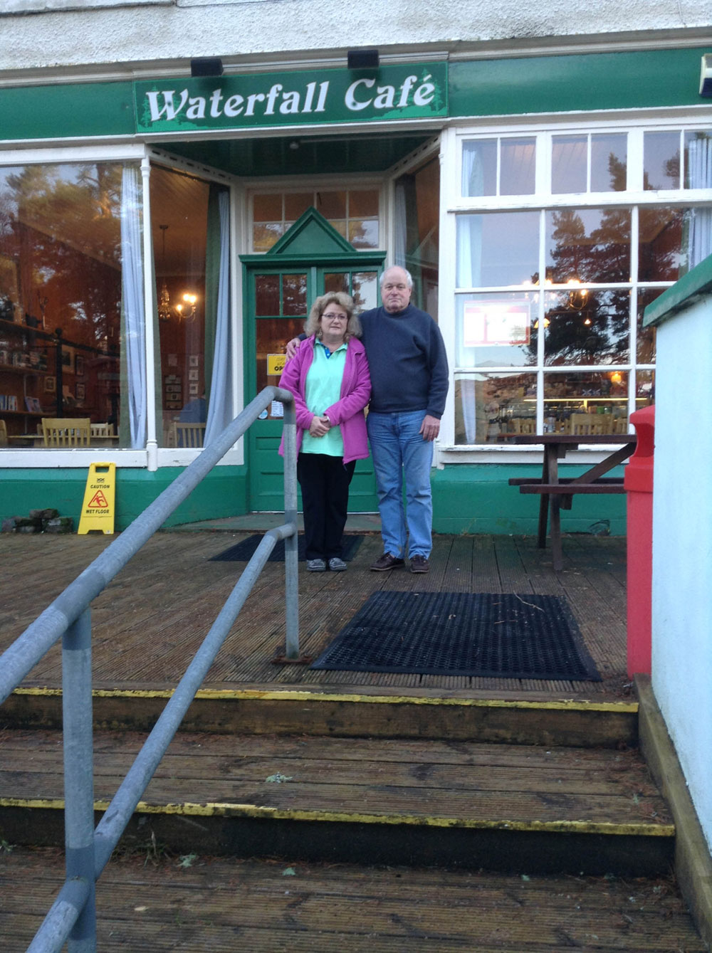 Simon and Jan Hargreaves run the Waterfall Cafe in Foyers