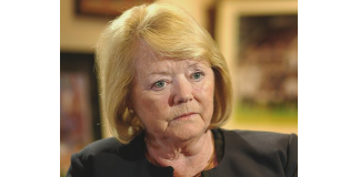 A stony-faced Ann Budge gives an interview | Hearts news