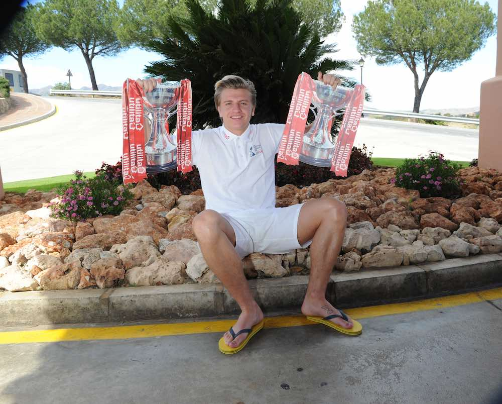 Jason Cummings Hibernian Team Hotel the Costa Del Sol preparation for Sunday's Scottish League Cup Final v Ross County presented by Utilita PIC ERIC MCCOWAT