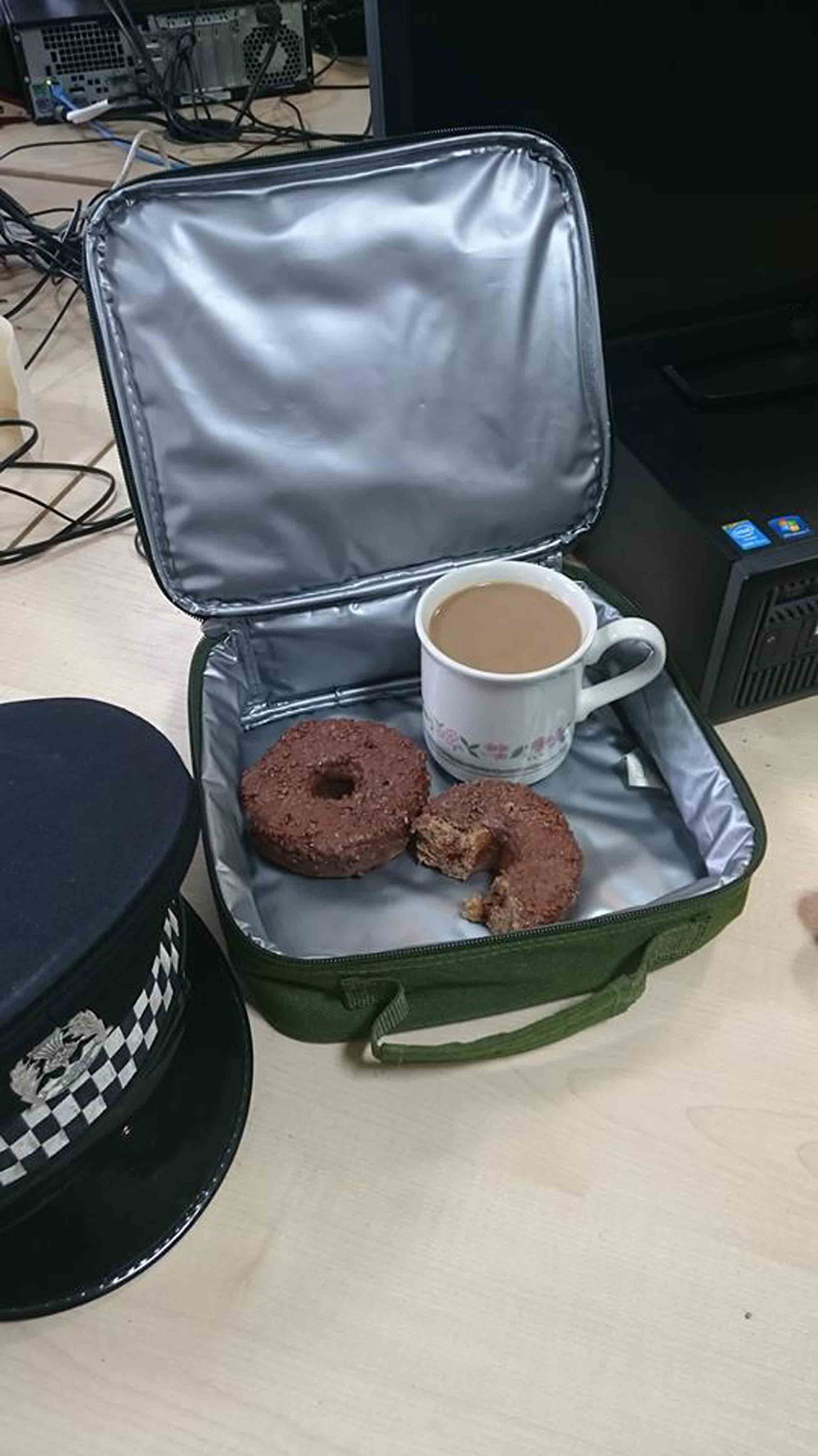 The police shared this hilarious snap online