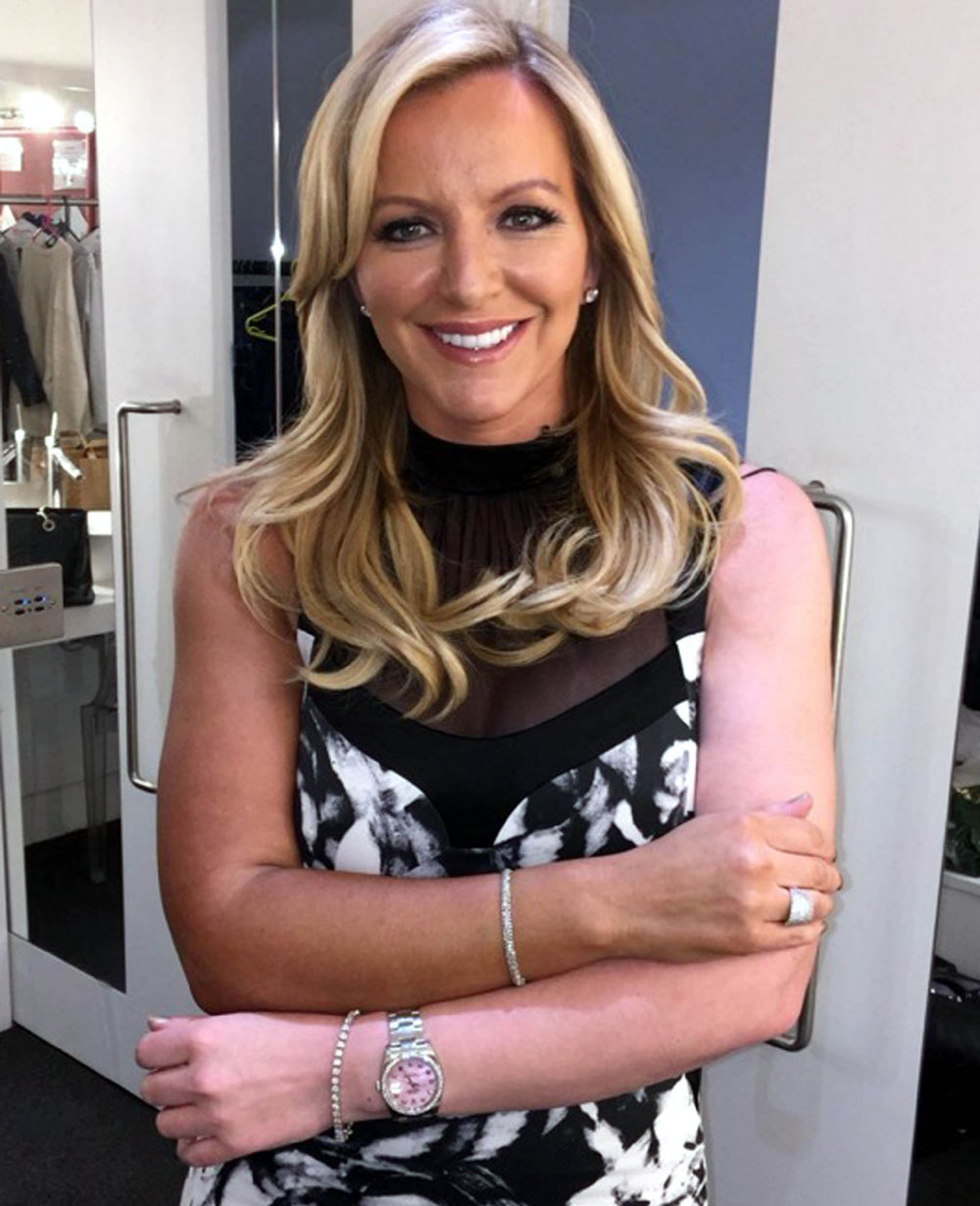 She tanned one arm to prove how the product works