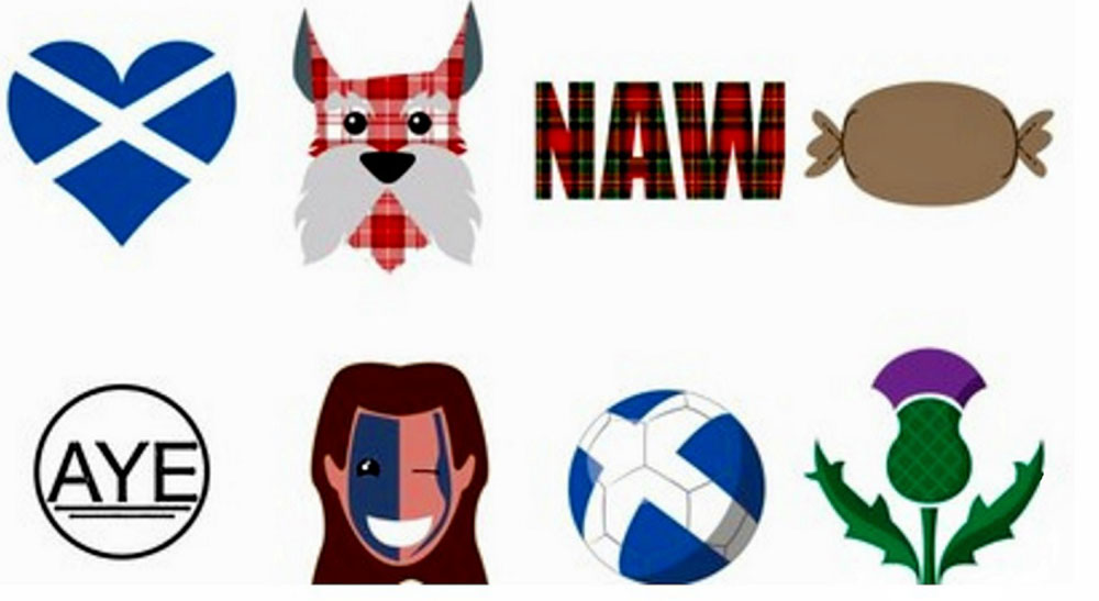 Some of the possible Scots emojis