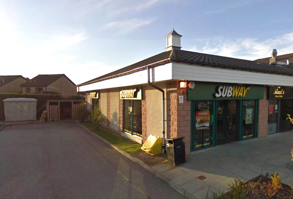 The Subway store in Westhill, Aberdeenshire