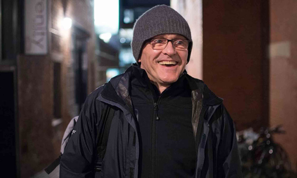 Danny Boyle was pictured on the Humans of Edinburgh website
