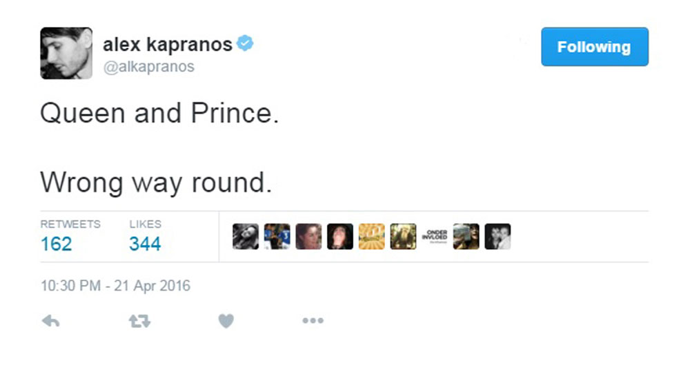 Kapranos made the controversial statement on Twitter