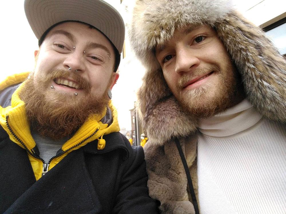 Markus Meechan with Colin McGregor