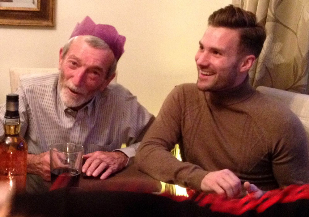 Geoff with his grandson on Christmas day