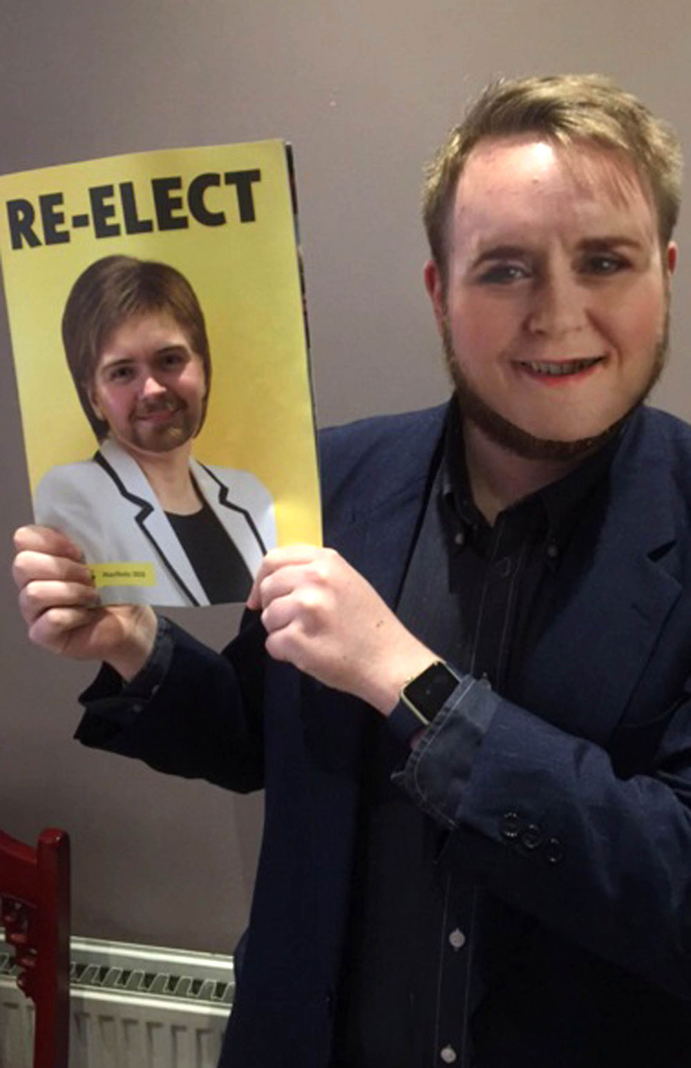 Conor McKay proudly showing off his Face Swap