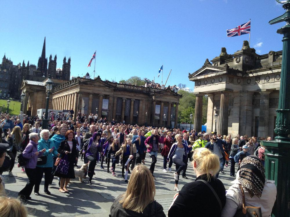 Sunshine On Leith being filmed in Edinburgh