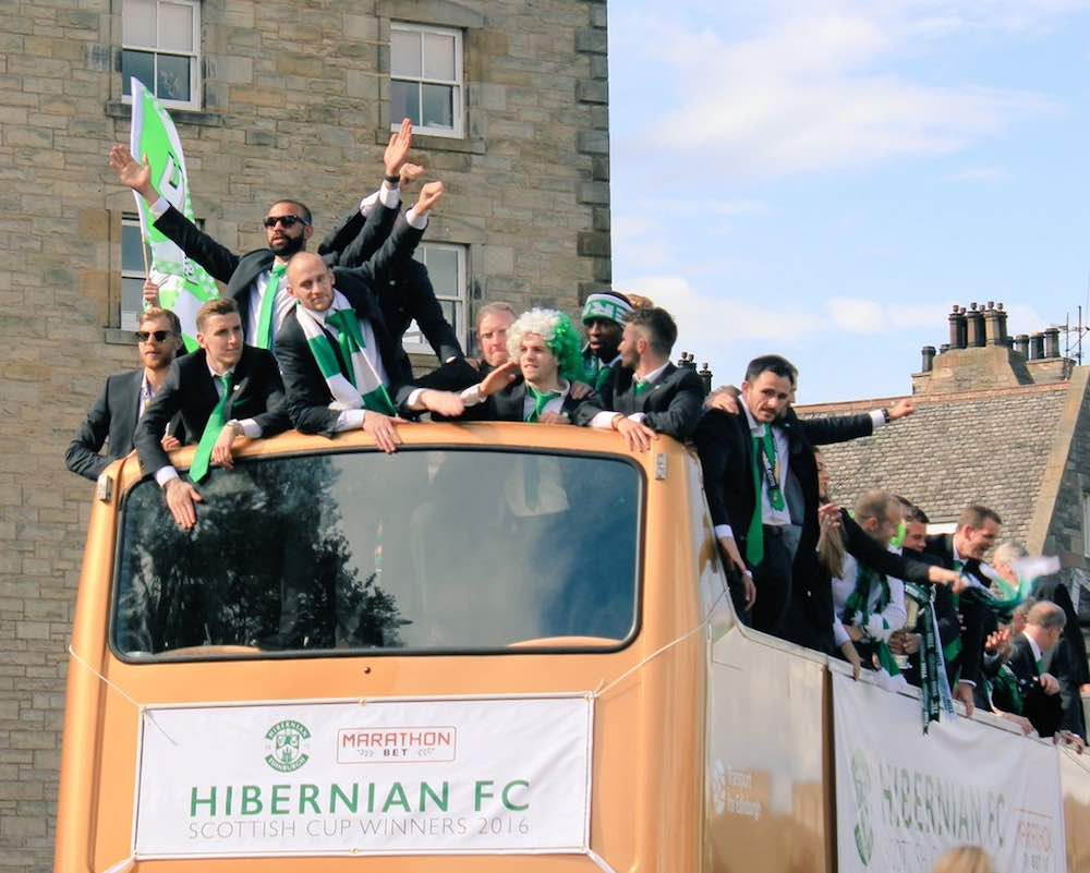 Hibs recently won the Scottish cup in a historic - and troubled - event