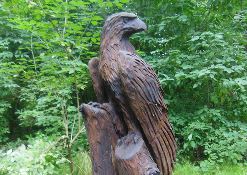 The eagle sculpture was a community favourite