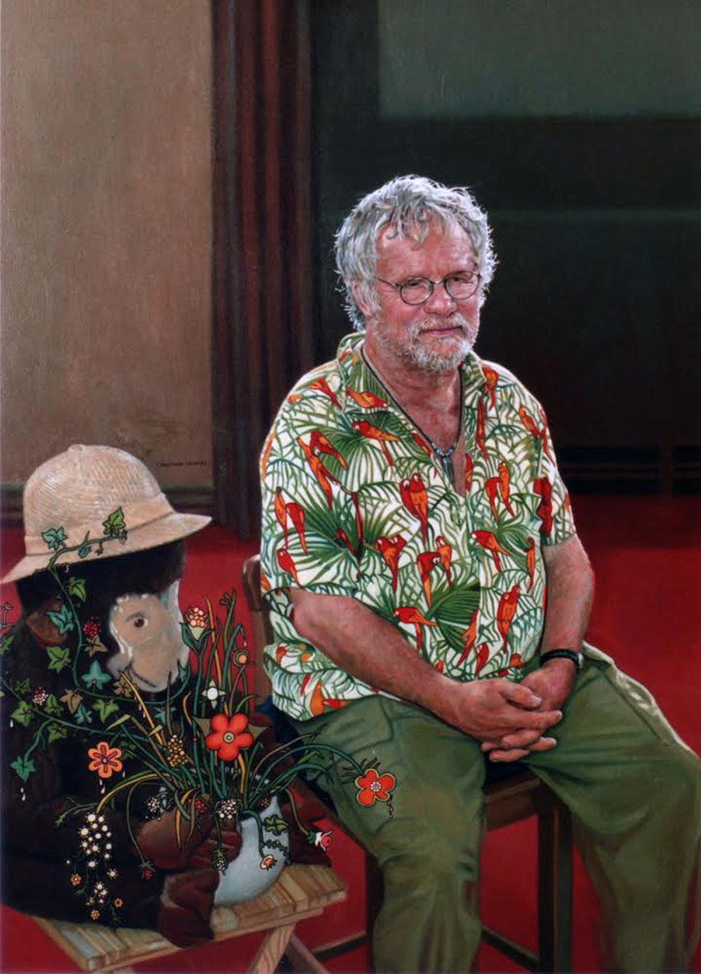 He once painted TV presenter Bill Oddie
