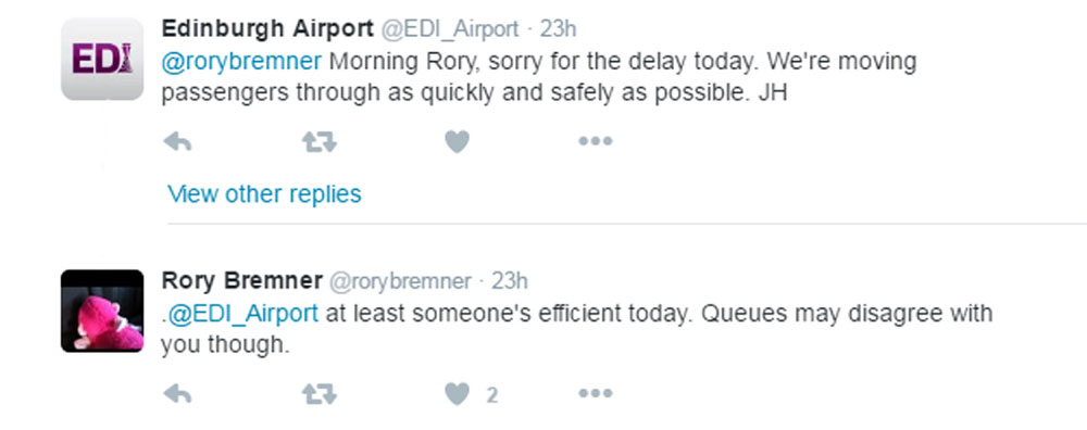 The airport did eventually apologise to Bremner