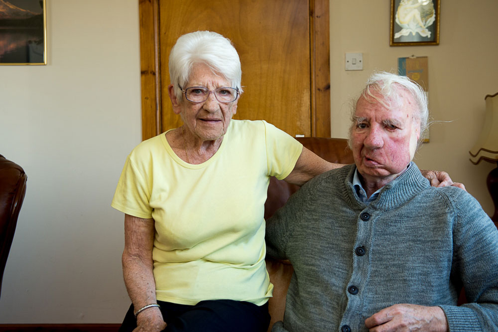 With his wife at home in Ballingry