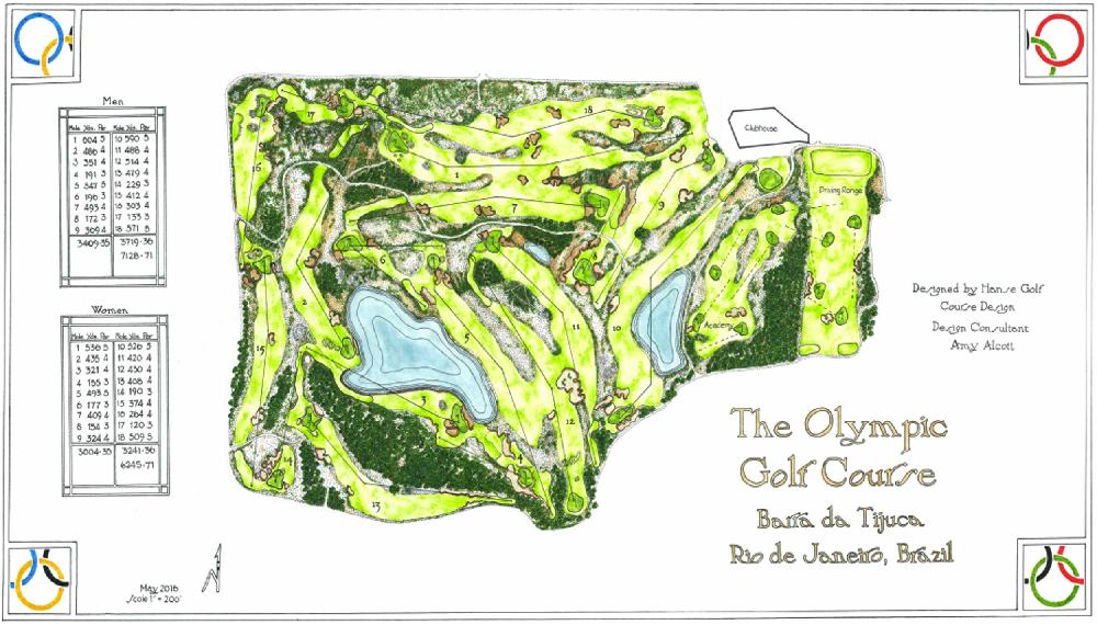 A plan of the Rio course