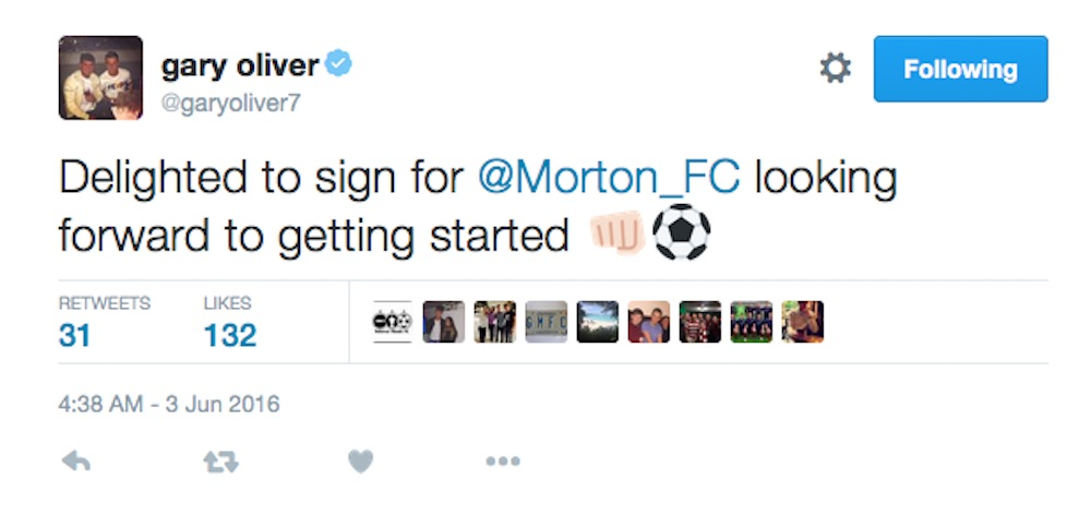 Gary Oliver tweet