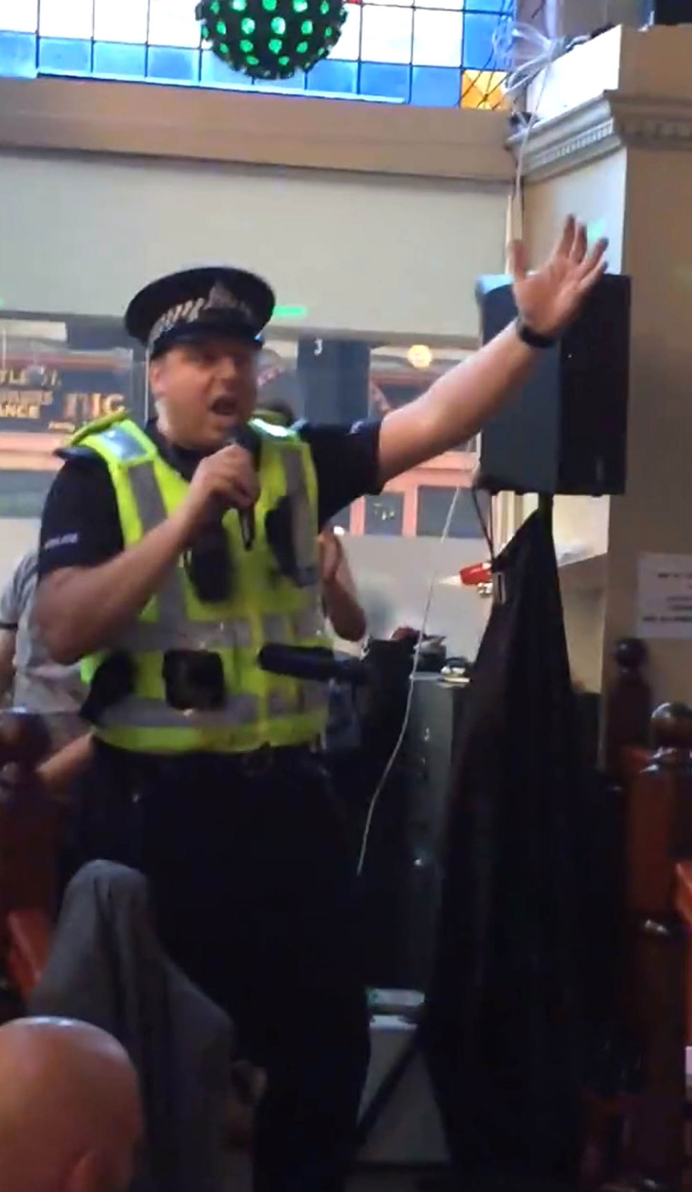 Sgt Harris waved his arms about as he sang