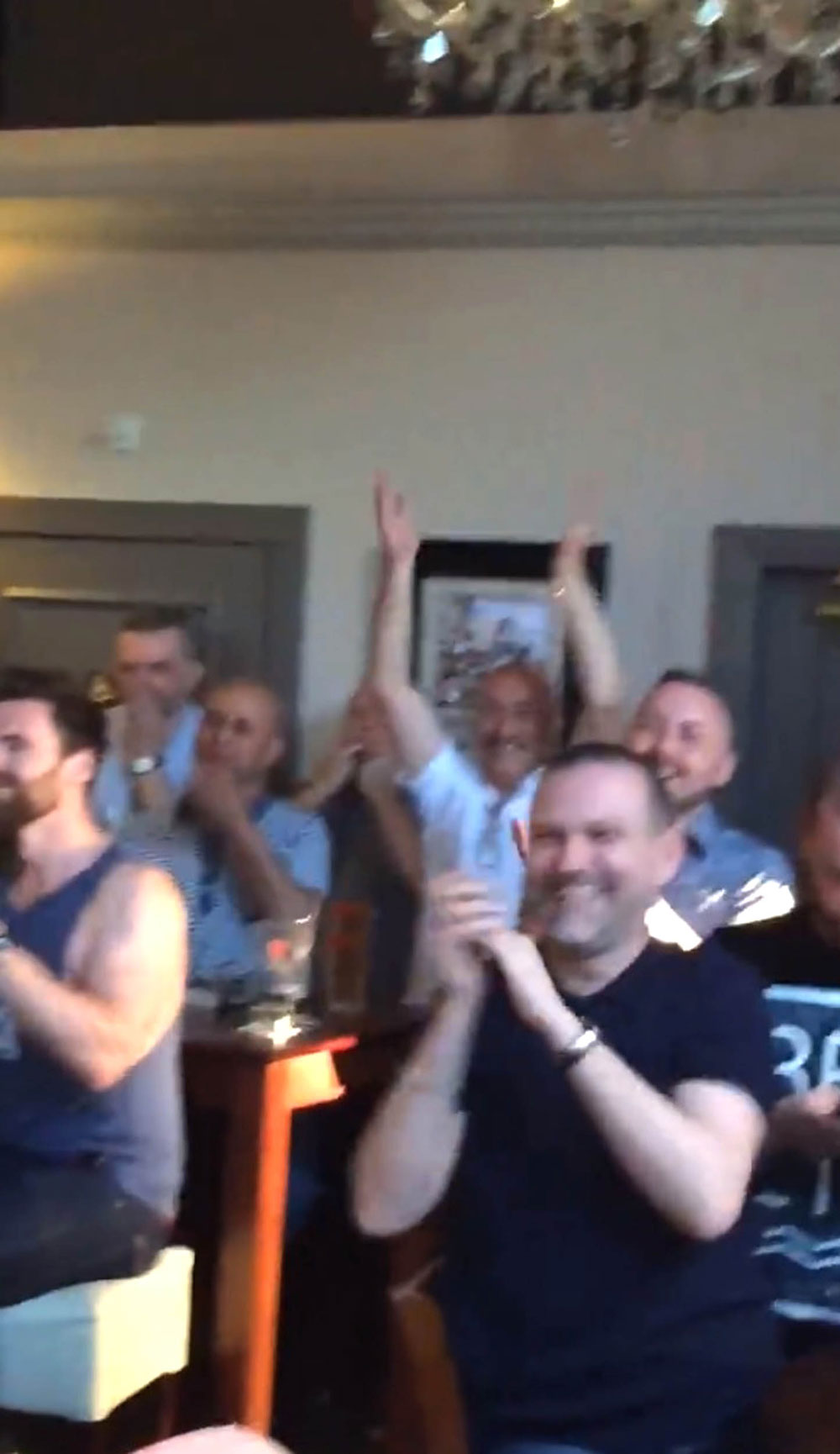 The pub crowd applauded his rendition