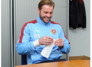 Robbie Neilson in jovial mood at Riccarton | Hearts news