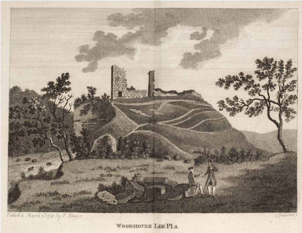 A depiction of the ruined castle (1790)