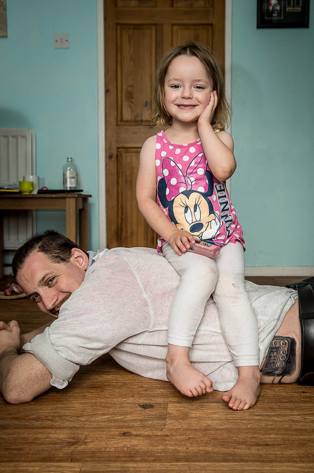 IN PIC................. Alan Hogg and his daughter Abigail, 3 (c) Wullie Marr/DEADLINE NEWS For pic details, contact Wullie Marr........... 07989359845