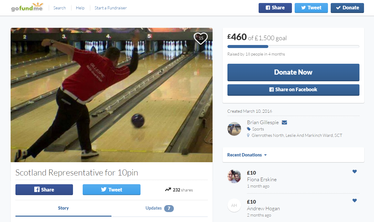 So far, the page has raised £460