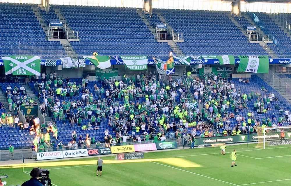 Hibs fans brondby