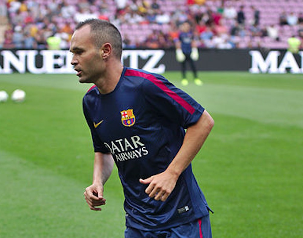 Barcelona stars Andres Iniesta & Andre Gomis react to 7 0