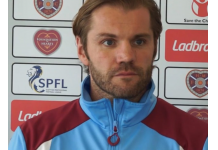 Robbie Neilson in blue and maroon tracksuit | Hearts News