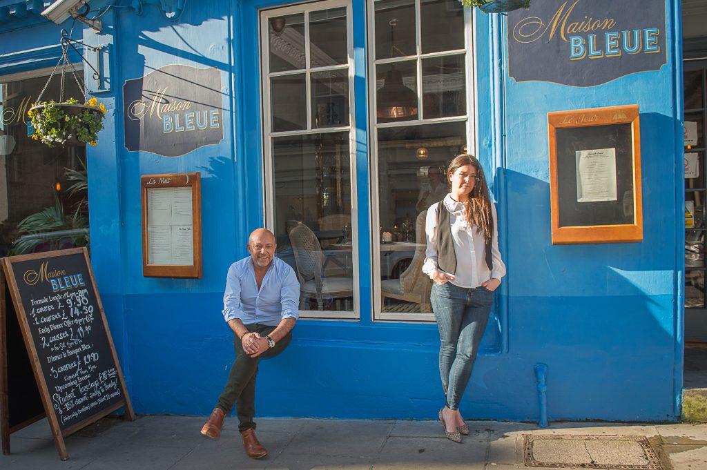 Dean Gassabi and daughter Layla, of Maison Bleue restaurants