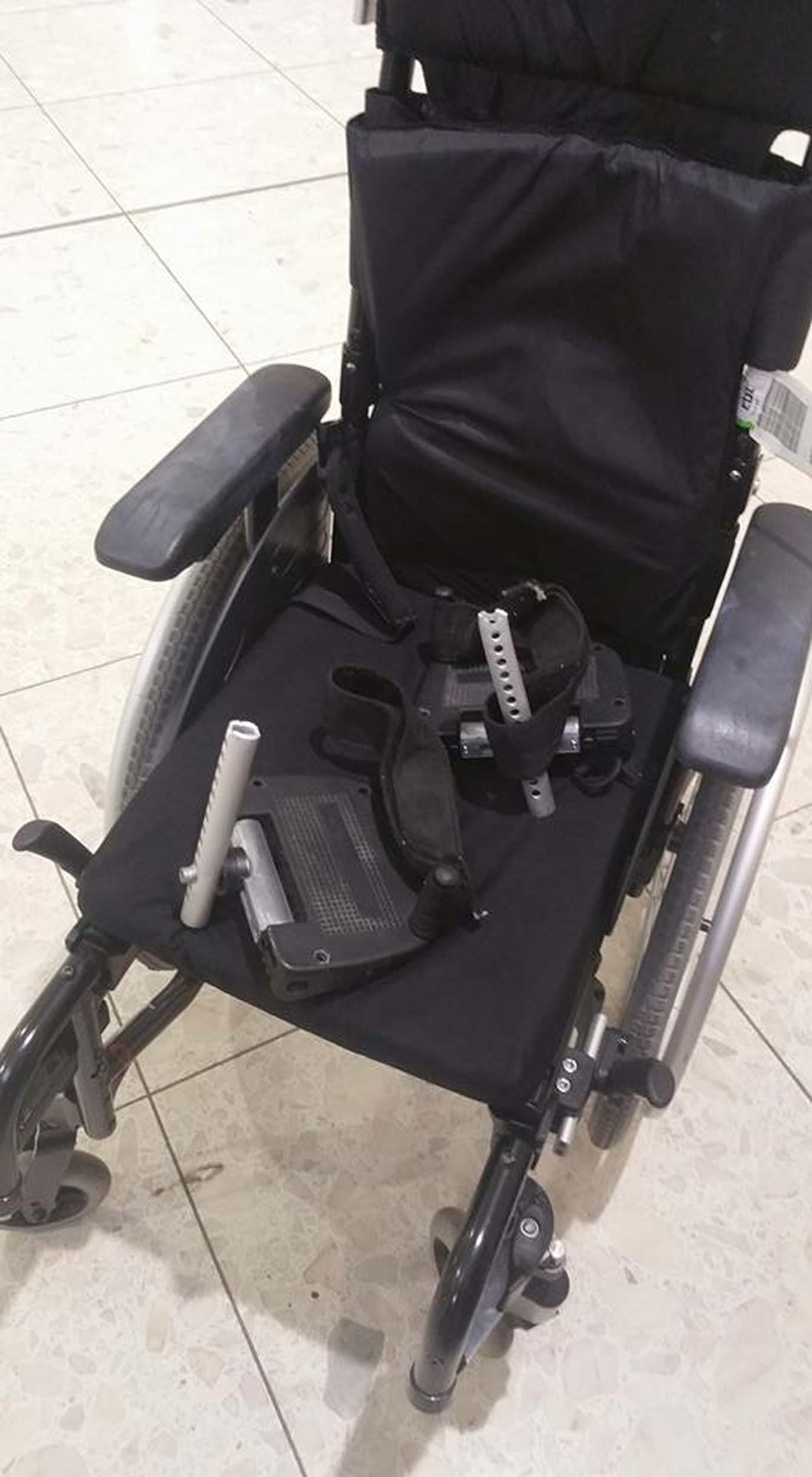 The broken wheelchair