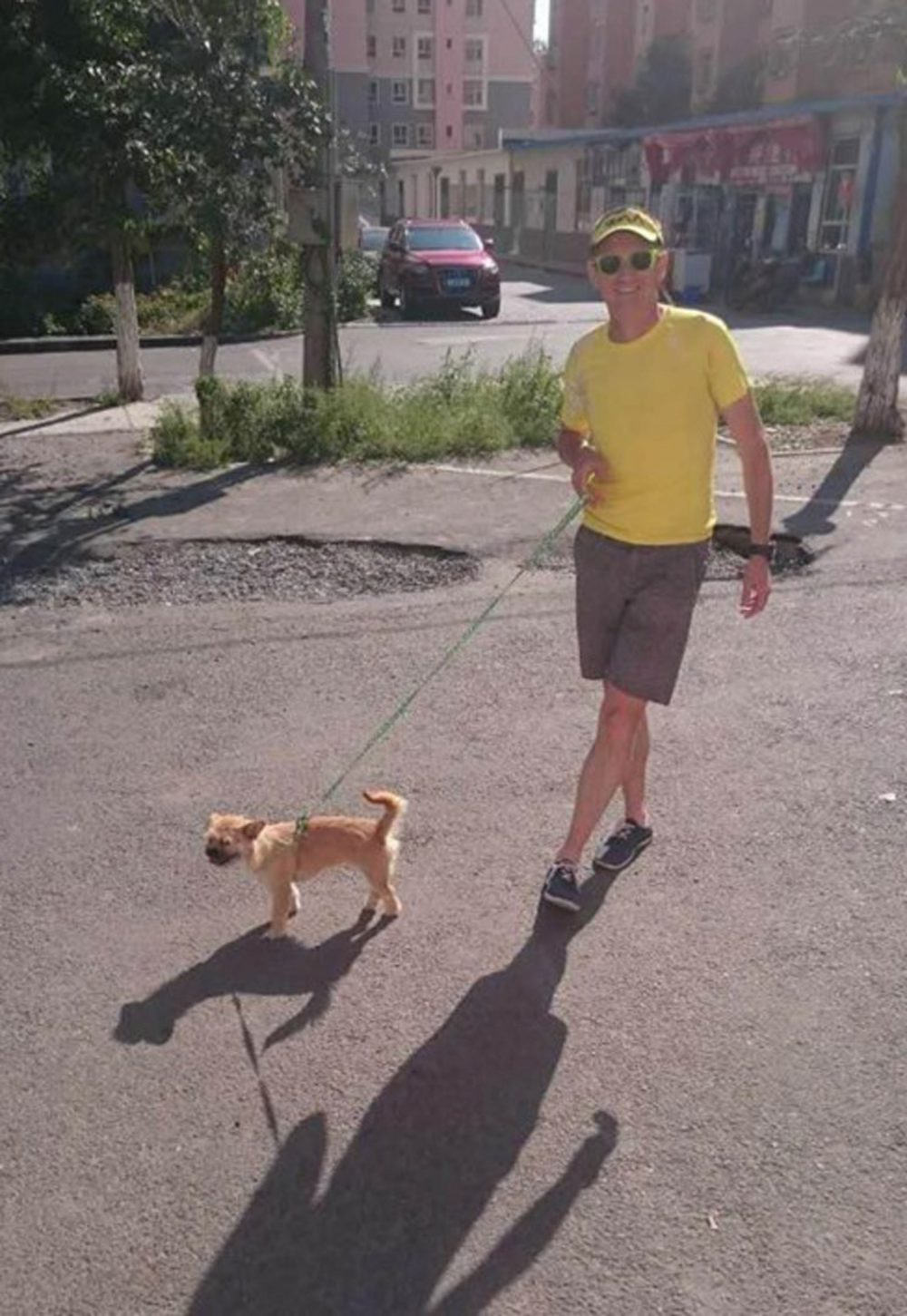 Gobi has been kept on a short leash since going missing for ten days last month.