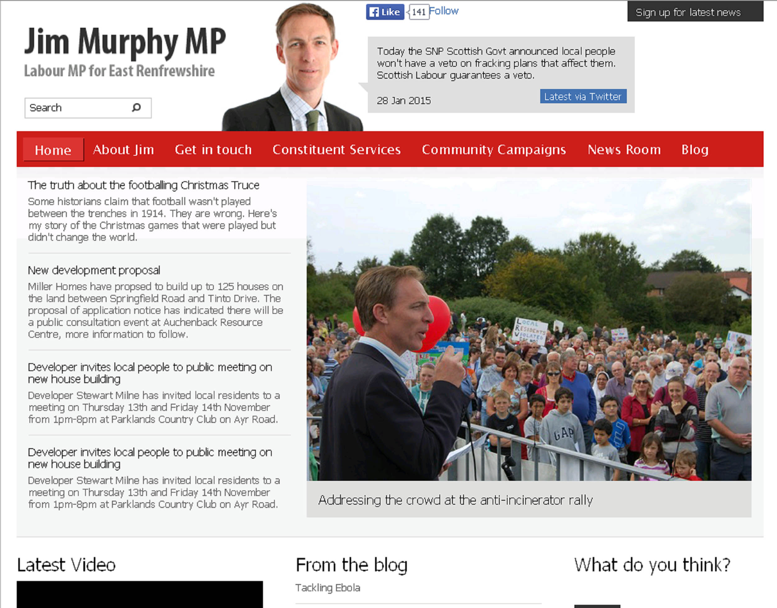Murphy's former official website