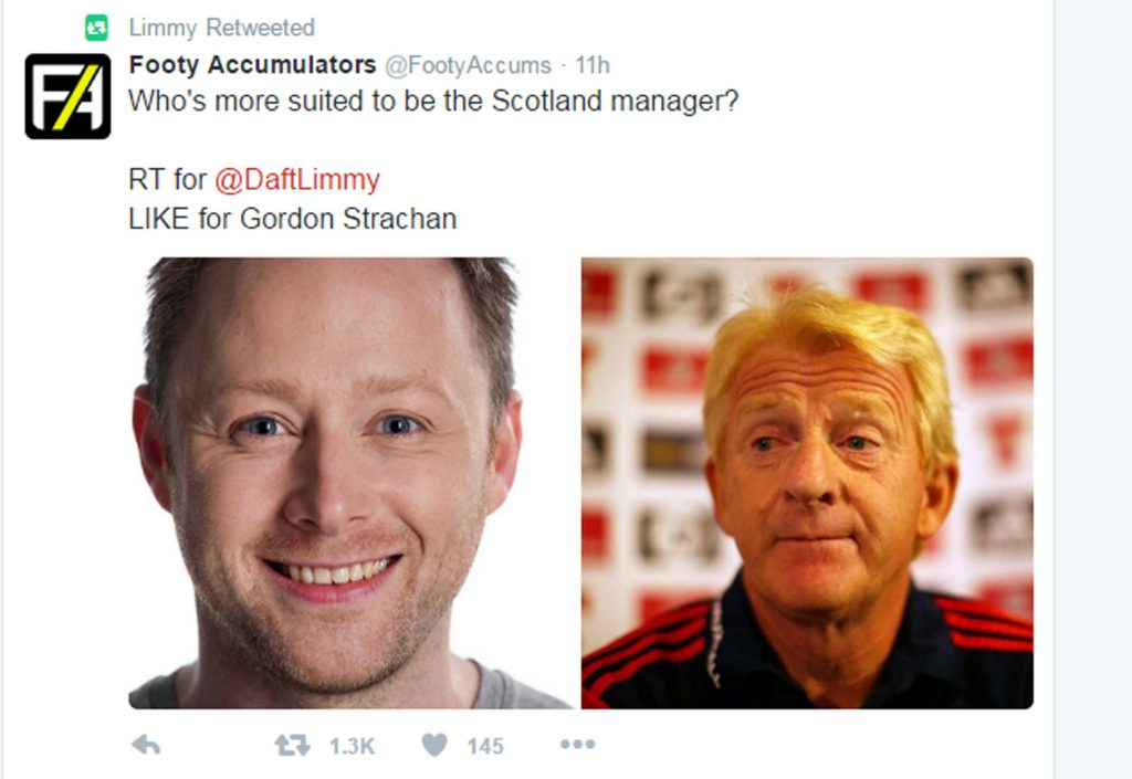 Limmy and Scotland manager Strachan