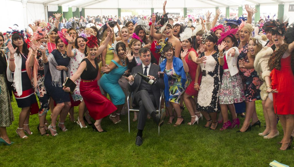 Musselburgh Racecourse Stobo Castle Ladies Day 2016. Pic shows l to r: