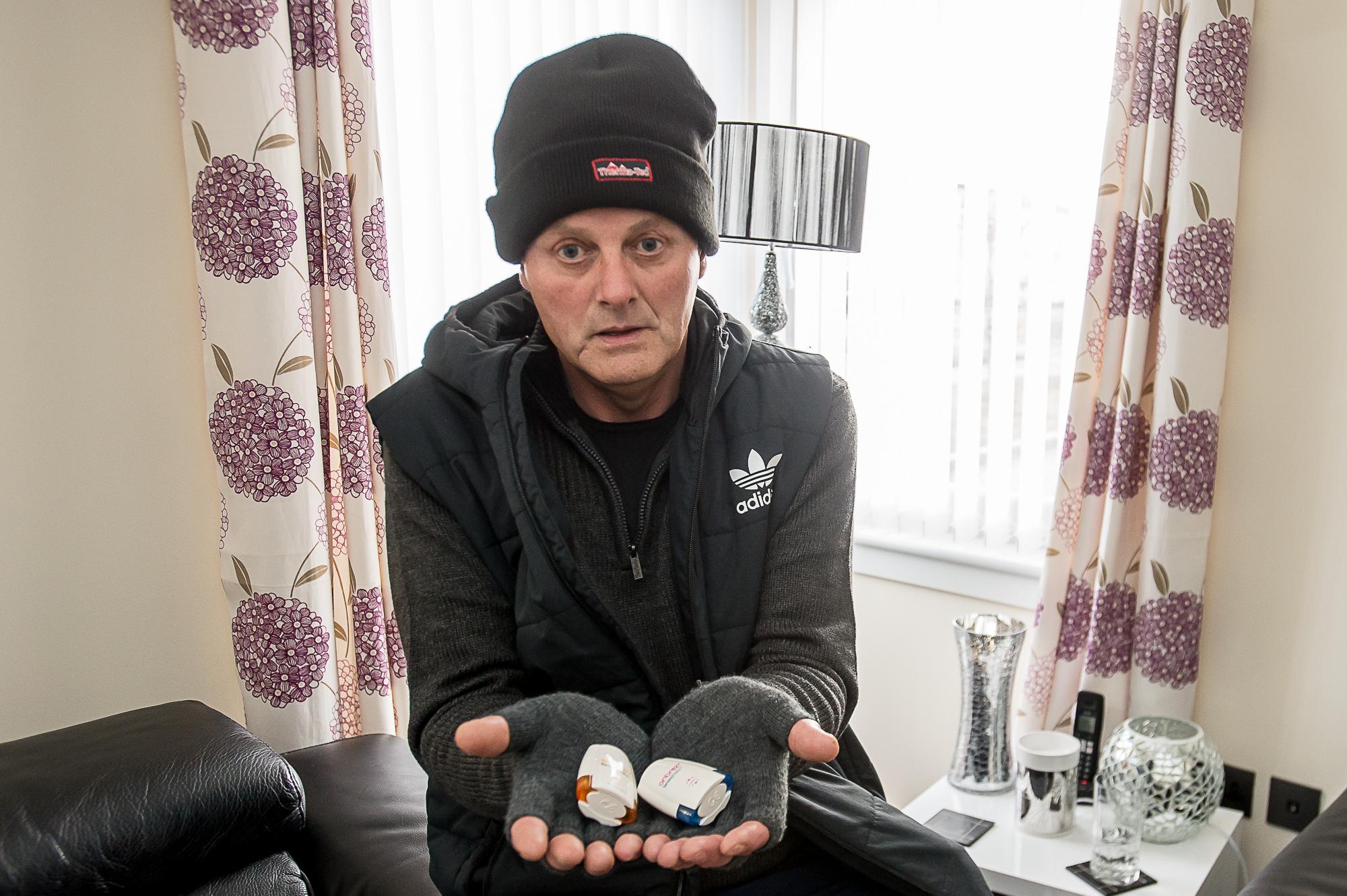 John with his medication