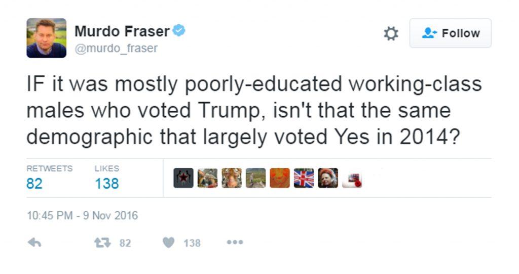 Murdo Fraser's tweet