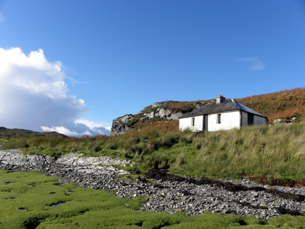 A RUN-DOWN tin-roofed bothy with no indoor toilet and no running water has gone on the market for £125,000.