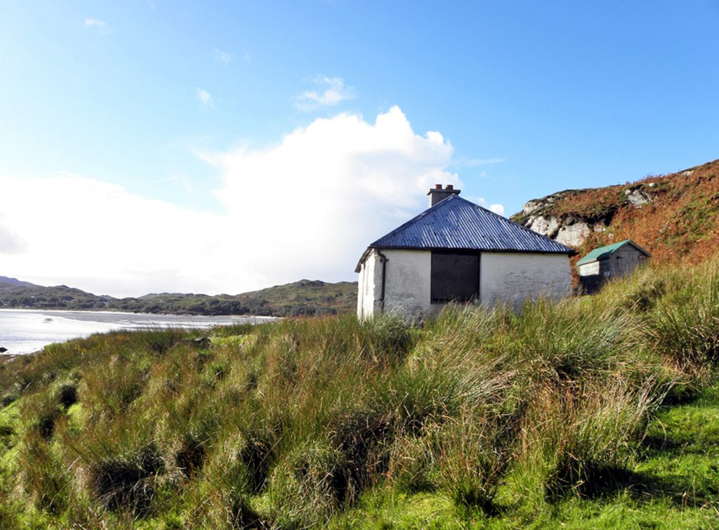 The eye-watering price tag for Bourblach Cottage is down to one thing - it is in one of the most the most beautiful places in Britain. The 300-year-old property overlooks the spectacular Silver Sands of Morar in the north-west Highlands of Scotland.