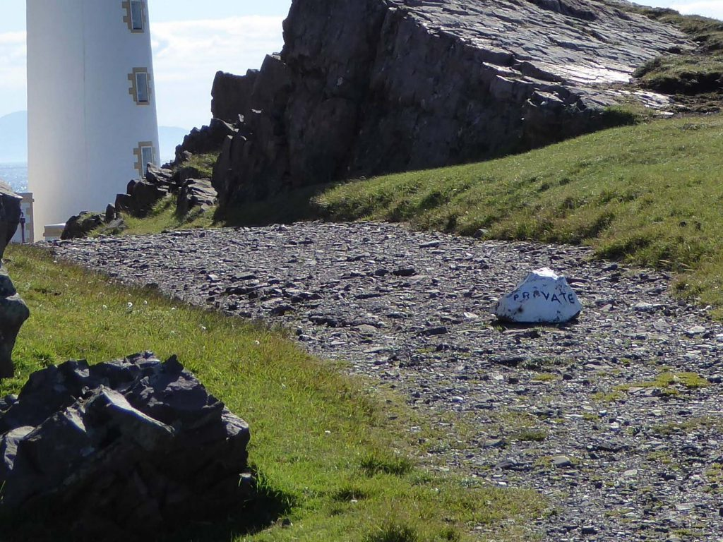The couple are trying to keep the lighthouse private from tourists