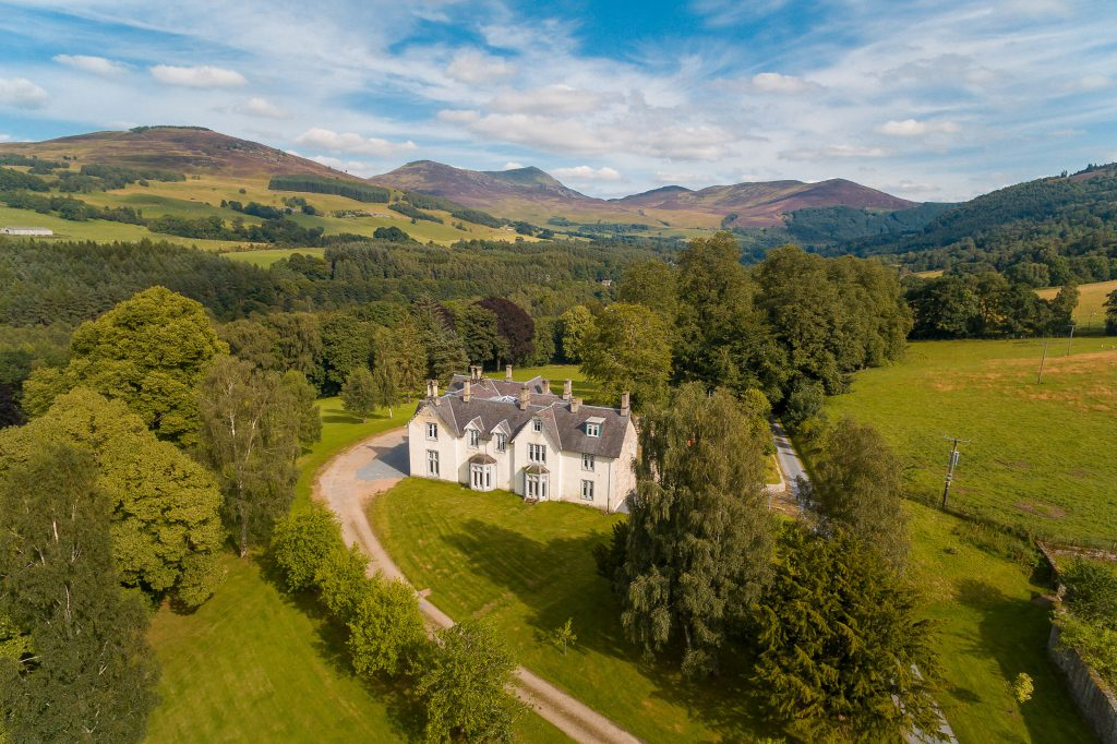 STUNNING drone footage shows a 23-acre Scottish estate with salmon fishing on sale for just £1.55m.