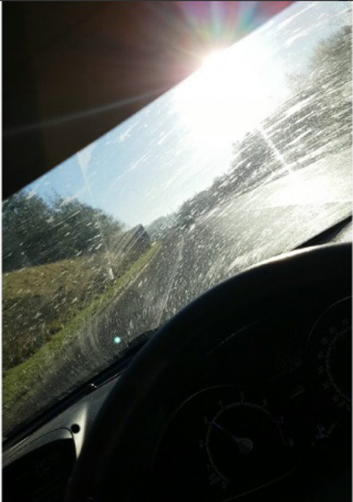 The filthy windscreen